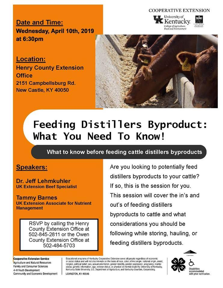Feeding Distillers Byproduct:  What You Need To Know!