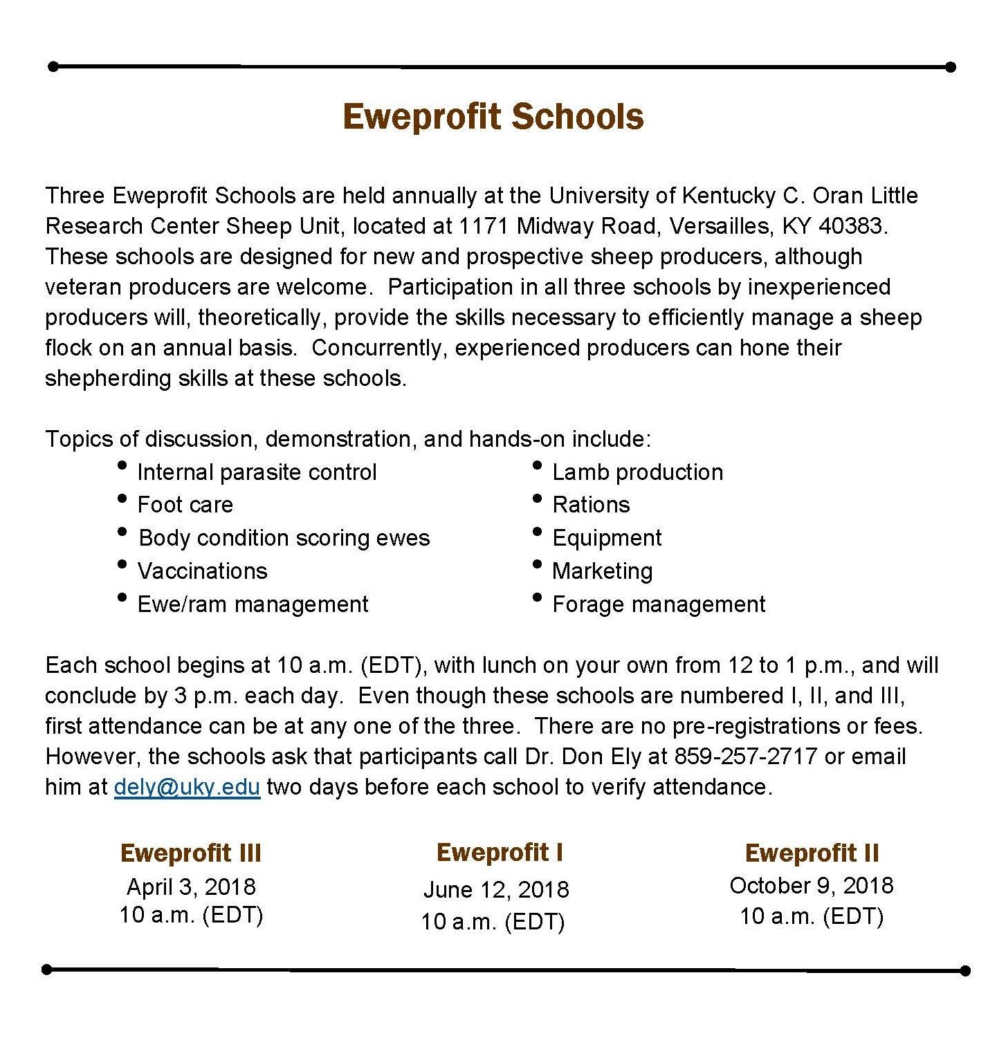 Eweprofit school general information