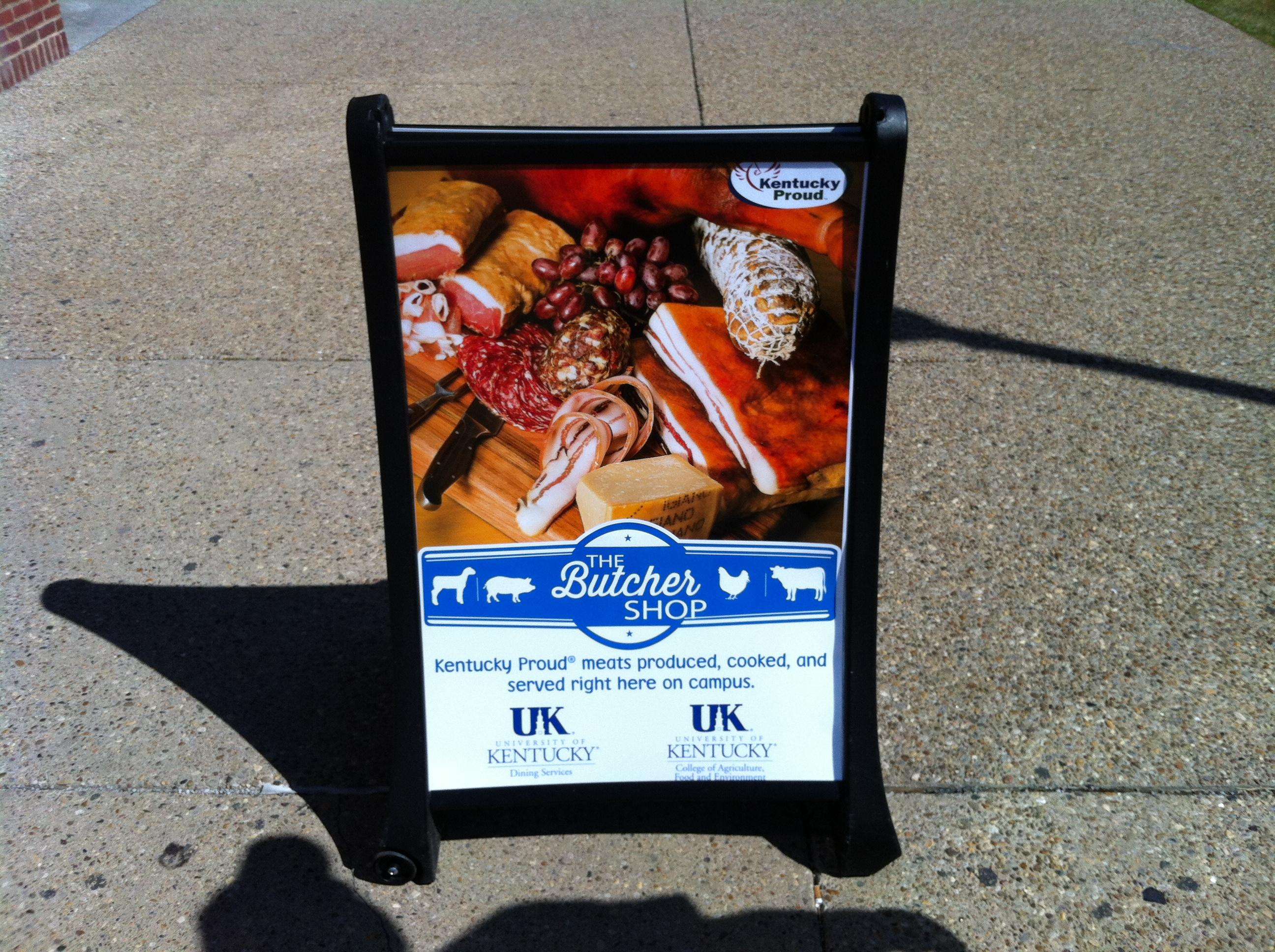 Butcher Shop sign