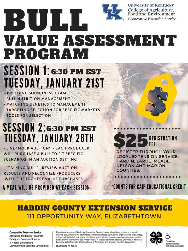 Bull Value Assessment Program