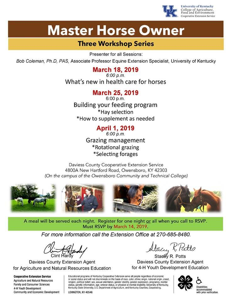 Master Horse Owner (Three Workshop Series)