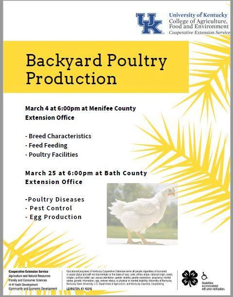 Backyard Poultry Production