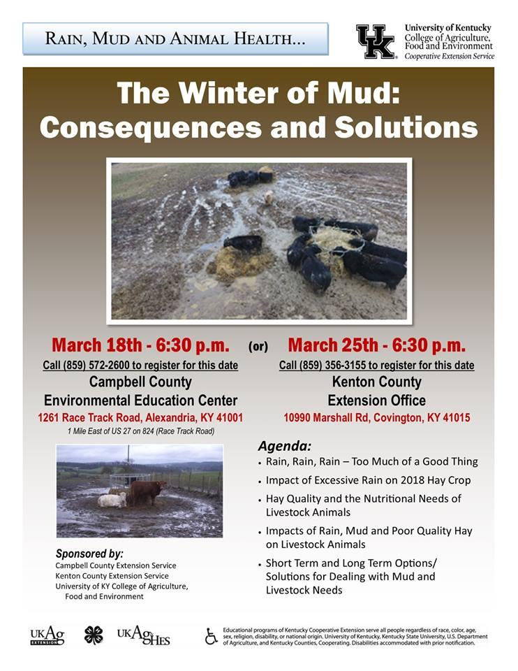 The Winter of Mud: Consequences and Solutions