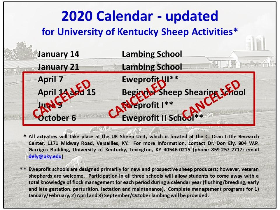 Sheep Events