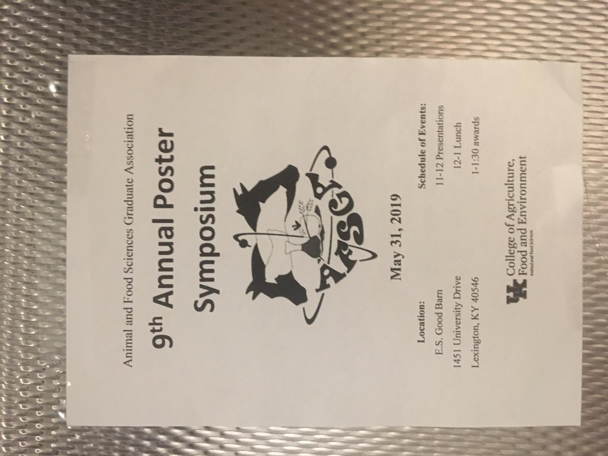 May 31 Poster Symposium