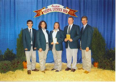 2005 Kentucky 4-H All-Star Gold Livestock Judging Team