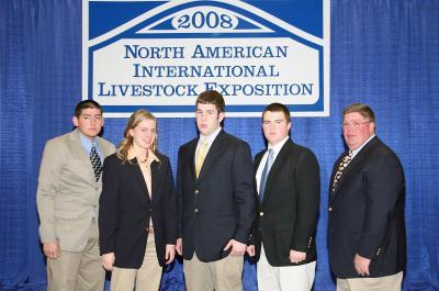 2008 Kentucky 4-H All-Star Gold Livestock Judging Team