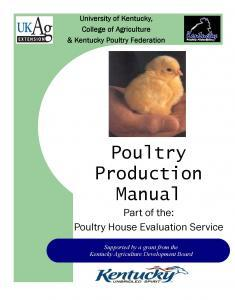 poultry production manual