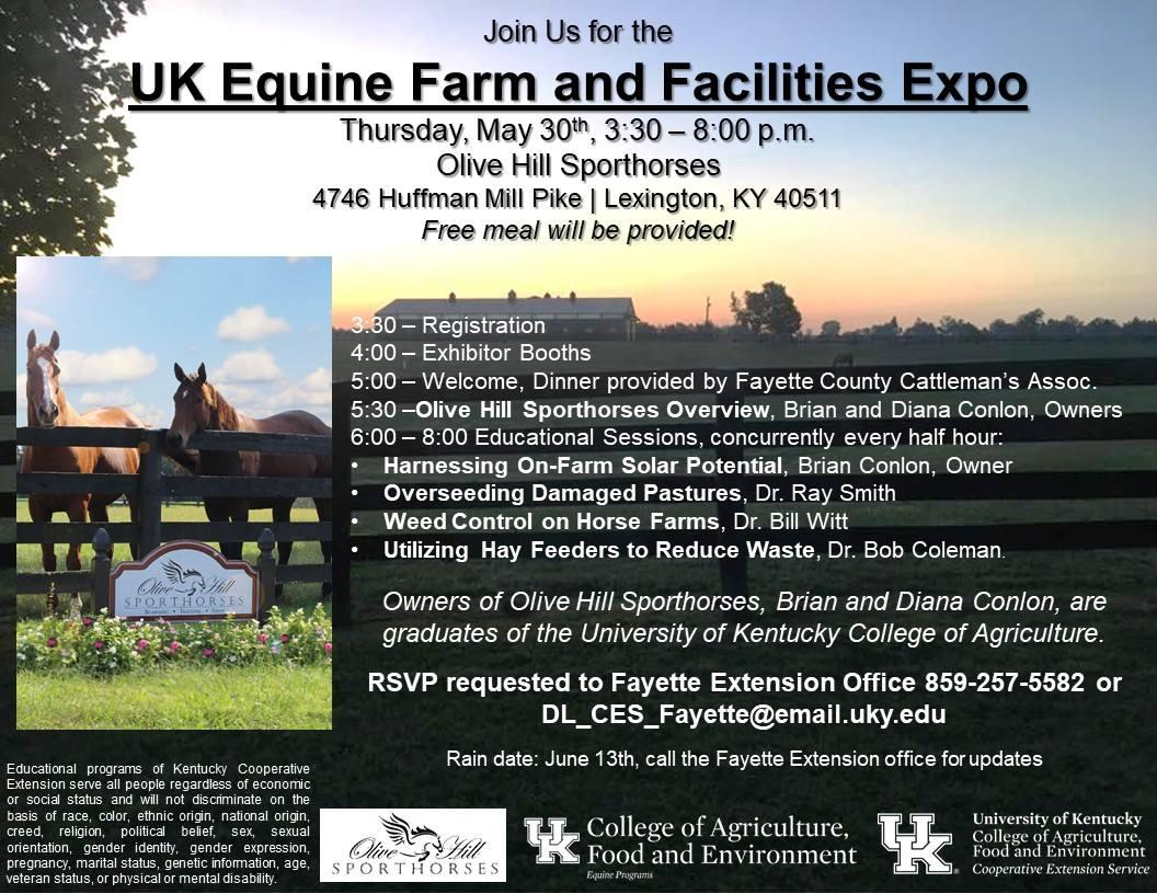 May 30 UK Equine Farm & Facilities Expo