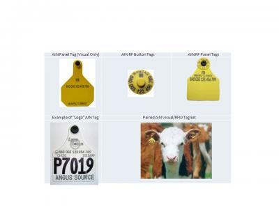 "Animal identification number (AIN) ""840"" Tags"