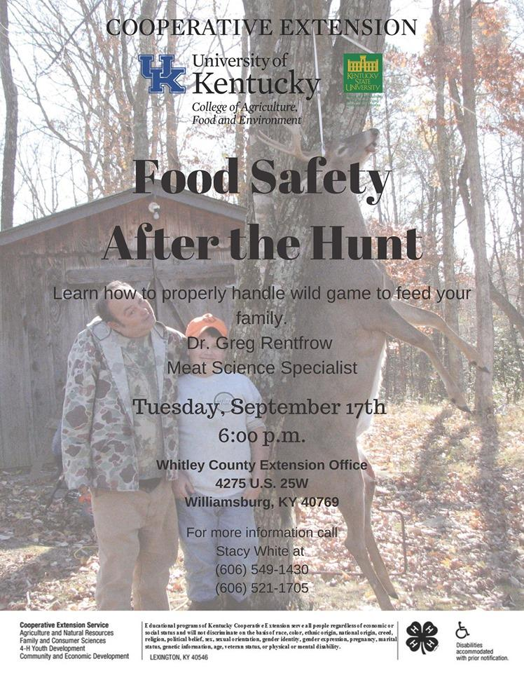 Food Safety After the Hunt