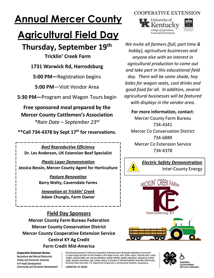 Mercer Co. Ag Field Day