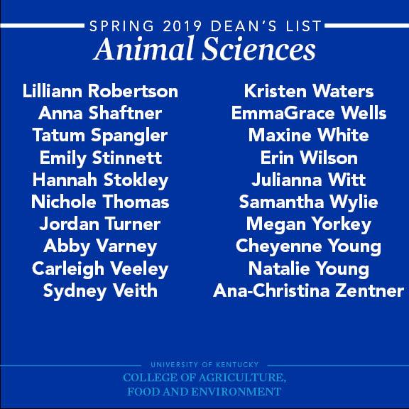 Spring-2019-Animal-Sciences-Deans-List